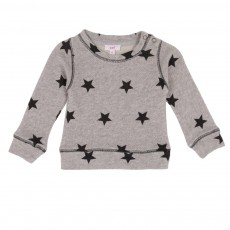 Sweat Etoiles Gris chiné