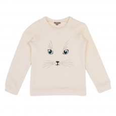 Sweat Chat Blanc cassé