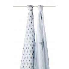 Maxi-lange - Etoiles gris - Pack de 2