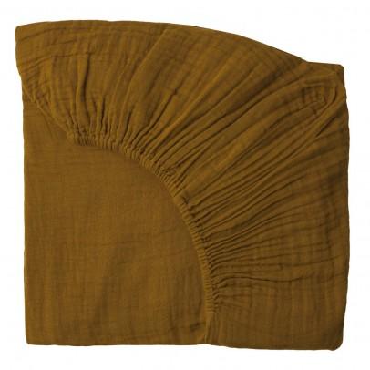 drap housse jaune moutarde numero 74 d coration smallable. Black Bedroom Furniture Sets. Home Design Ideas