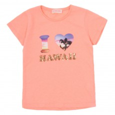 T-shirt I Love Hawai Rose pêche