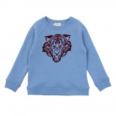 Sweat Tigre Bleu ciel