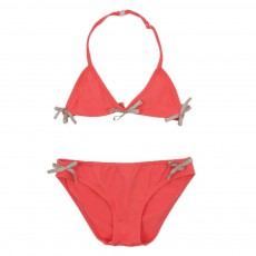 Bikini Nœuds Dorés Corail
