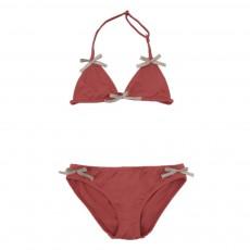Bikini Nœuds Dorés Rouge brique