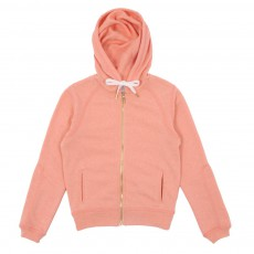 Sweat Capuche Giselly Rose pêche