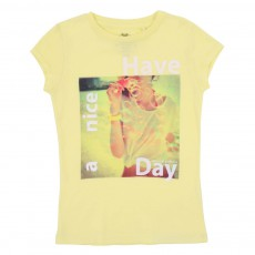 T-shirt Have A Nice Day Jaune citron