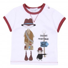 T-shirt Little Marc Aventurier Blanc
