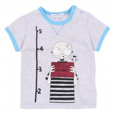 T-shirt Little Marc Prisonnier Gris chiné