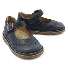 Chaussures à Boucles Bleu