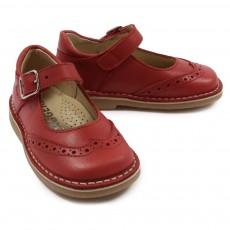 Chaussures à boucles Rouge