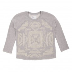 Sweat perles Gris chiné