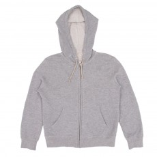 Sweat Capuche Zippé Gris chiné