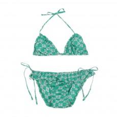 Bikini Imprimé Géométrique Vert émeraude