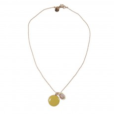 Collier Coquillage Ocre