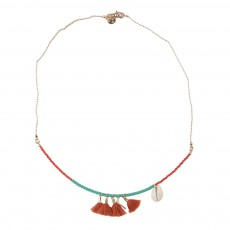 Collier Tribu Pompons Multicolore