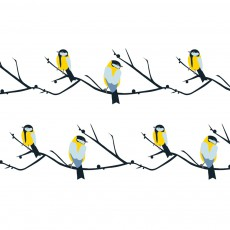 Papier peint Arbres et oiseaux
