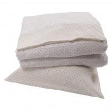 Parure de lit junior Blanc - Pois gris