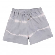 Short de Bain Tie and Dye Blanc