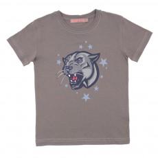 T-shirt Panthère Gris