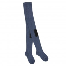 Collants Patch Genoux Bleu