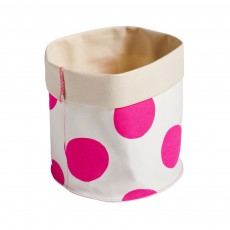 Panier Pois Rose Fluo - Taille S