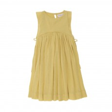 Robe Netty Crépon Ocre