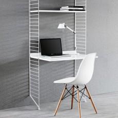 Bureau étagères blanc Blanc