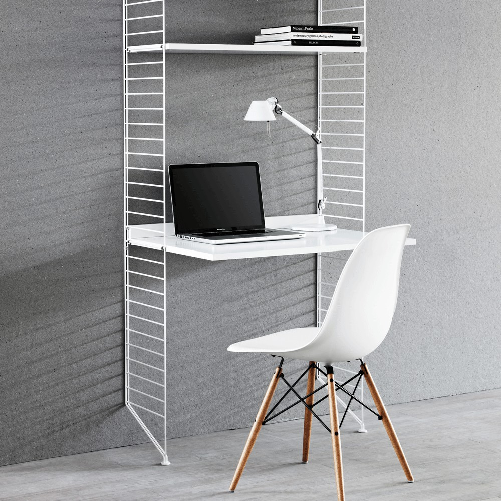 Bureau tag res blanc blanc string mobilier smallable for Bureau simple blanc