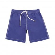 Short de Bain Uni Bleu roi