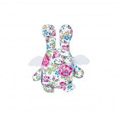 Hochet Ange lapin Liberty fleurs