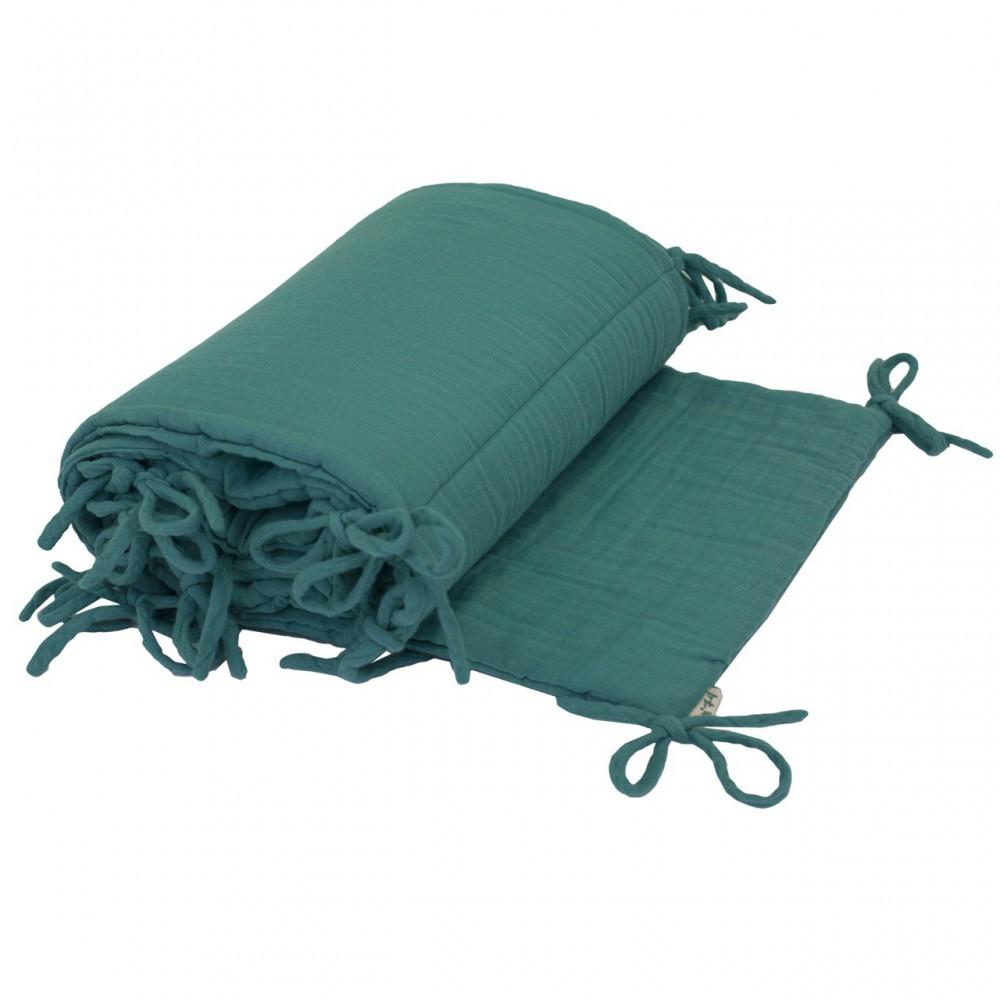 tour de lit turquoise numero 74 univers b b smallable. Black Bedroom Furniture Sets. Home Design Ideas