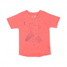 T-shirt Bird Corail