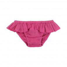 Culotte Volants Rose fuschia