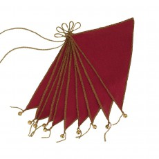 Guirlande fanions - Rouge