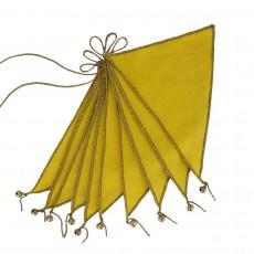 Guirlande fanions - Jaune tournesol