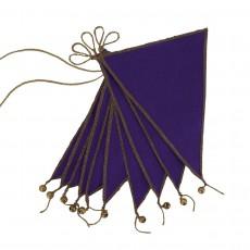 Guirlande fanions - Violet