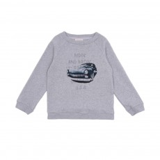 Sweat Vintage Car Gris chiné