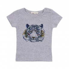 T-Shirt Tiger Bébé Gris chiné