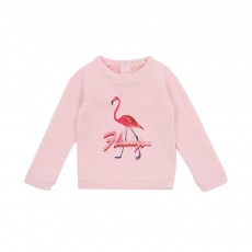 Sweat Flamingo Bébé Rose pâle