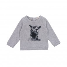 Sweat Leopard Bébé Gris chiné