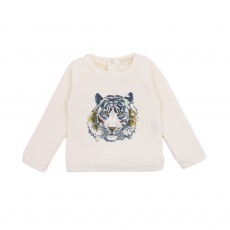Sweat Tiger Bébé Blanc cassé