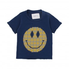 T-shirt Smiley Bébé Bleu