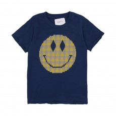 T-shirt Smiley Bleu