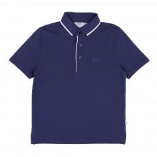 Polo Avec Liseré Bleu indigo