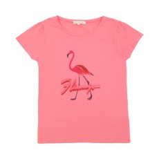 T-Shirt fronces Flamingo Corail