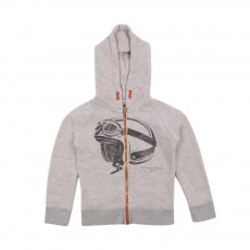 Sweat Casque Gris chiné