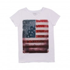 "T-shirt Tunisien ""BD Flag"" Blanc"