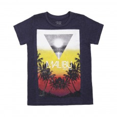 "T-shirt ""Sunset"" Bleu marine"