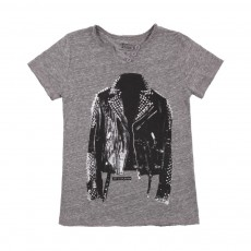 "T-shirt ""Jackets"" Gris chiné"