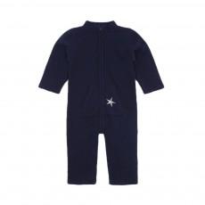 Combinaison cachemire Broderie Etoile Bleu marine